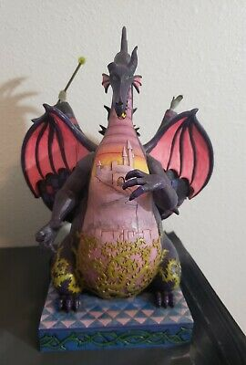 """Disney Traditions """"Casting the Spell"""" Maleficent and the Dragon Figure RARE"""