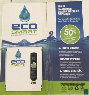 ecosmart 240v single phase 27 kw electric tankless water heater,no