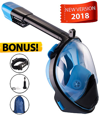 e1d91094a Full Face Snorkel Mask With 180° Panoramic Underwater View