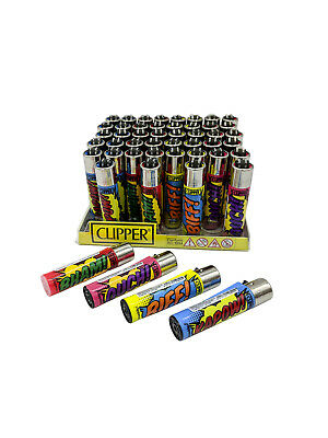 Box of 50 - Clipper Lighter Refillable Large Vintage Cartoon Sounds