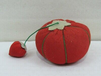 Vintage Medium Tomato with Strawberry Sewing Pin Cushion (PC#35)