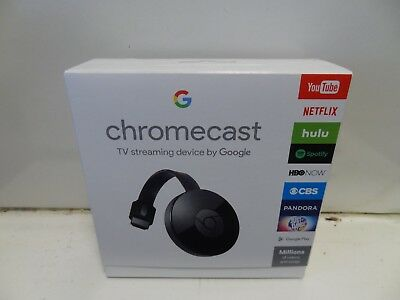 BRAND NEW Google Chromecast Digital HD Media Streamer 2nd Generation, Black