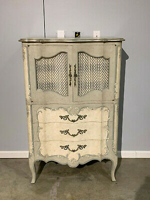 John Widdicomb Grand Rapids Painted French / Venetian Tall Chest of Drawers