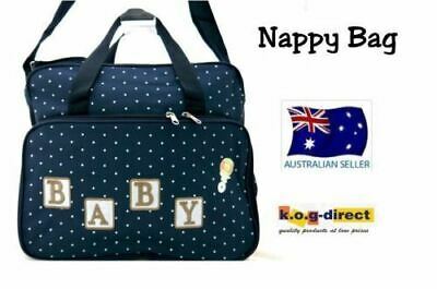 793630db496c STORKSAK BOBBY QUILTED Navy Nappy Diaper Bag   Baby Changing Mat ...