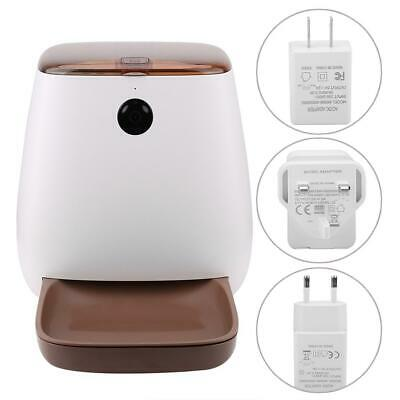 Smart Automatic Pet Feeder Cats and Dogs Smartphone Wifi App 3L Camera UK PLUG