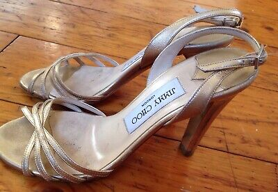efaf2bf027d Jimmy Choo London Golden Heels Women s 35 1 2 Vero Cuoio Italy Free Shipping