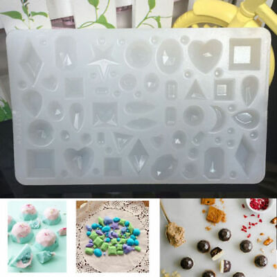 UK Silicone Cabochon Mold Making Jewelry Pendant Resin Necklace Casting Mould