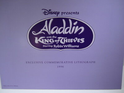 Disney's Aladdin and the King of Thieves Lithograph