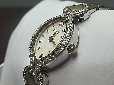 Caravelle by Bulova Women's 45L96 Swarovski Crystal Accented White Dial Watch