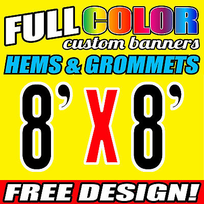 8' x 8'ft Banner Backdrop Stand Trade show Step and Repeat- only banner