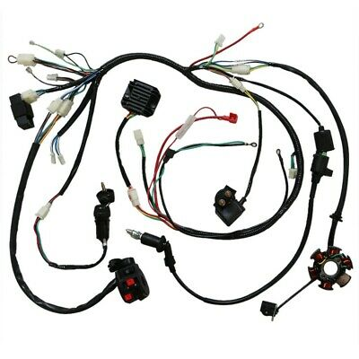 Full Electric Wiring Harness Loom Cdi Coil For Gy6 125cc 150cc Atv