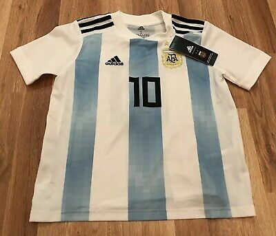 NEW ADIDAS 2018 World Cup Argentina Home Jersey BQ9288 MESSI Sz Youth Small  NWTz c32e5022d