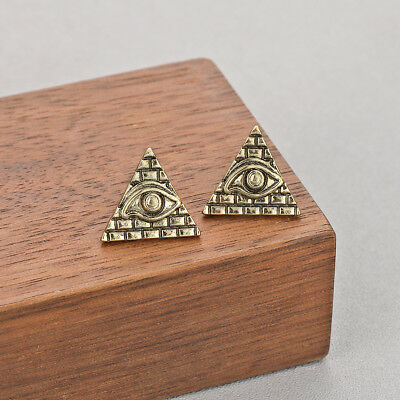 Ancient Egypt Viking Earrings Vintage Pyramid Symbol Old Egyptian Evil Eye Jewel