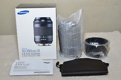 Samsung NX 50-200mm f4-5.6 ED OIS III i-Function Zoom Lens (Black) w/ BOX_ NEW!!