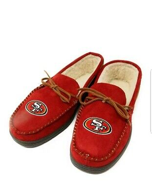 89abac436b8 NFL San Francisco 49ers Men s Colored Moccasin Hard Slippers-New