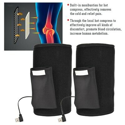 Electric Knee Heating Pad Brace Massage Therapy Pain Relief Warming Wrap Relax