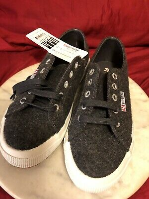 dfec904a2cc SUPERGA Women s Sneaker Graphite Size 7 Wool poly With Rubber SoleNew With  Tags