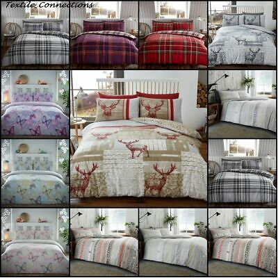 Flannelette Duvet Cover Set Flannel Quilt Bed Sets & Pillow Cases Double King