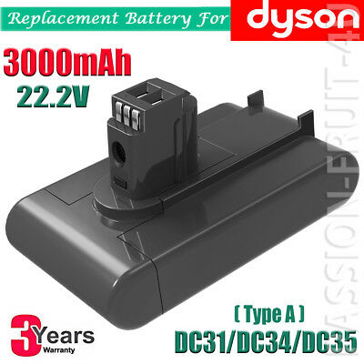 For Dyson Vacuum Battery DC31 DC34 DC35 DC44 917083-09 (Type A) 3000mAh 22.2V CA