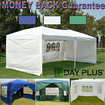 New 3 x3,4,6m 130g Waterproof Outdoor PE Garden Gazebo Marquee Canopy Party Tent