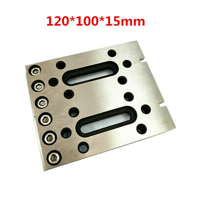 1x Wire EDM Fixture Board Stainless Jig Claw Clamp And Level Tool 120x100x15mm