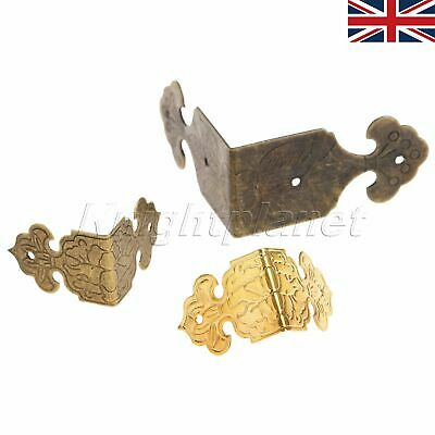 12X Vintage Metal Corner Edge Protector For Gift Jewelry Box Wood Table Decor UK