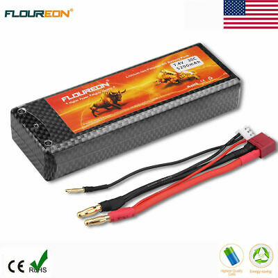 30C 2S 5200mAh 7.4V RC Lipo Battery Pack Deans Plug For Car Truck Buggy Hobby US