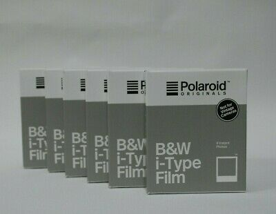 POLAROID B&W i-TYPE INSTANT FILM *6 PACKS 48 shots* SAVE £40 *