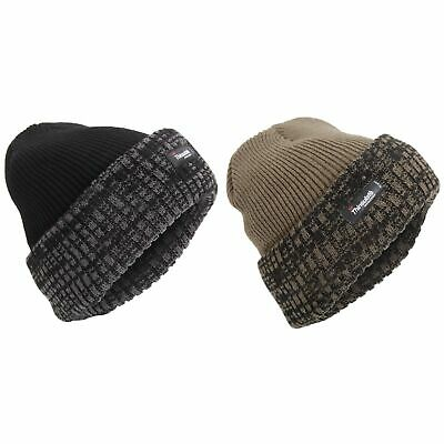 Mens Thinsulate Thermal Knit Winter Beanie Hat (3M 40g) (HA539)