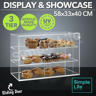 New Large Cupcake Display Cake Bakery Muffin Donut Pastries Cabinet Acrylic 5mm