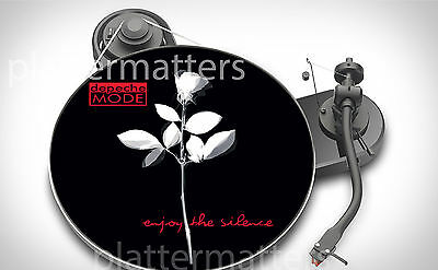 "Ltd. Edition DEPECHE MODE Enjoy The Silence 7"" or 12"" inch TURNTABLE platter MAT"