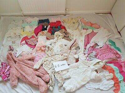 6-9 Months Girls Bundle, 73 Items including Next and Mothercare