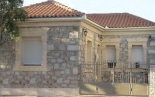 Stone made house in Volos , Greece