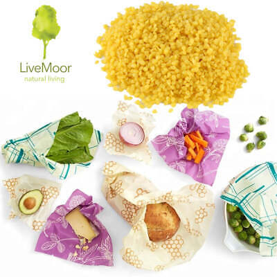 Yellow Beeswax Pellets - Perfect for Beeswax Wraps - Various Sizes Available