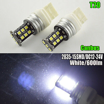 4X CANBUS T20 7443 7440 15 SMD 2835 LED Brake Turn Signal Rear Light Bulb Lamps