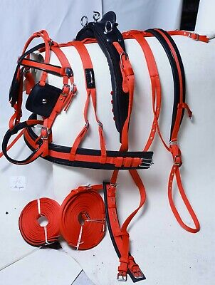 ACES STRONG DRIVING CART HARNESS SET TWO TONE FOR SINGLE HORSE BLUE//WHITE
