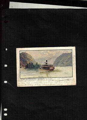 1907 Picture Post Card sent from Coblenz to U.S. & Forwarded