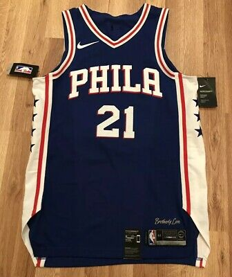 save off c0bd3 bef74 NEW NIKE AUTHENTIC PHILADELPHIA 76ers JOEL EMBIID AEROSWIFT JERSEY SZ 44  RARE