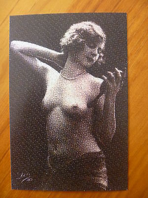 Postcard..semi Nude..photo Mosaic Art Of French Postcards..topless Dame
