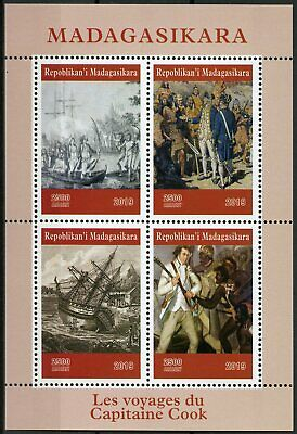 Madagascar 2019 MNH Captain James Cook 4v M/S Exploration Boats Ships Stamps