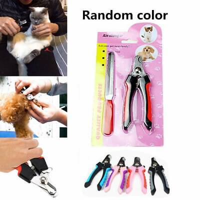 Safety Pet Dog Cat Nail Toe Claw Clippers Scissors Trimmer Cutter Grooming Tool