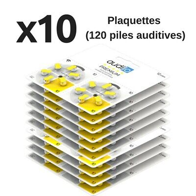 Piles auditives Audilo Premium (Taille 675, 13, 10, 312) - Un lot de 120 piles a