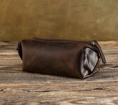 Leather Toiletry Bag Men Dopp Kit Handmade Travel Bags Сustom Pouch