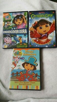 DORA THE EXPLORER DVD  Undercover Dora~Dora's Pirate Adventure~Christmas Carol