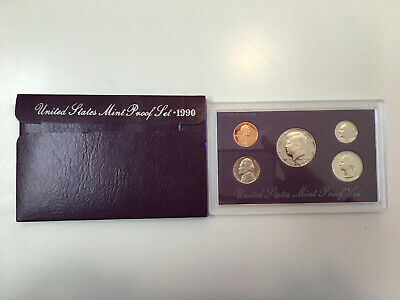 1990 Proof Set United States US Mint Original Government Packaging Box