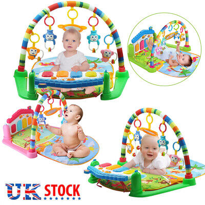 3 in 1 Fitness Baby Gym Play Mat Lay Play Music And Lights Fun Piano Boys Girls