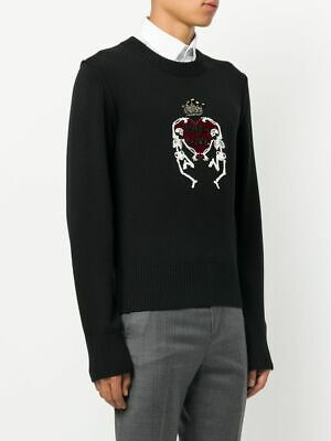 Dolce Gabbana Skeleton Heart Sweater Knit Pulli Strickpullover Pullover 48 €1075