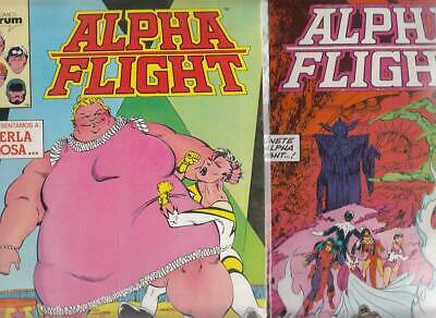 ALPHA FLIGHT  Nºs.   17.  19.    ( LOTE  2  NUMEROS)  FORUM...