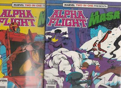 ALPHA FLIGHT  Nºs.   46.  47.     ( LOTE  2  NUMEROS)  FORUM.