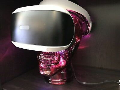 Sony Playstation VR Headset Skull Stand Or Display